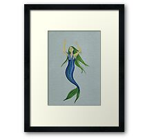 melting mermaid Framed Print
