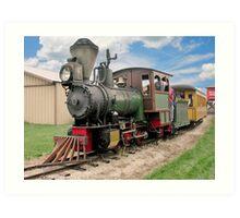 Narrow Gauge Train Art Print