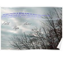 Jesus=Hope and Faith Poster