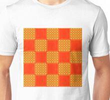 Beautiful Cushions/ Pattern Orange Checks Unisex T-Shirt