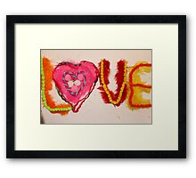 textured love Framed Print