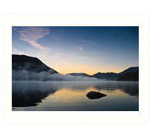 Mist Over Norfolk Island - Ullswater, Cumbria UK Art Print