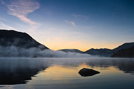 Mist Over Norfolk Island - Ullswater, Cumbria UK by David Lewins