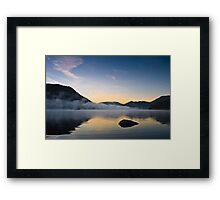 Mist Over Norfolk Island - Ullswater, Cumbria UK Framed Print