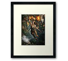 Lara Croft Tomb Raider Hanging artwork Framed Print