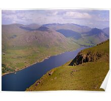 The Lake District: The Length of Wastwater Poster