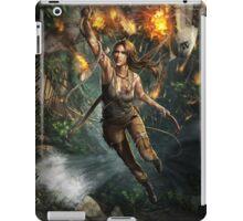 Lara Croft Tomb Raider Hanging artwork iPad Case/Skin