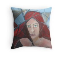 Red Head 1  Throw Pillow