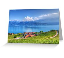 Terraced Vineyards of Lavaux UNESCO Greeting Card