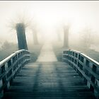 Bridge into the mist .. by Bert Raaphorst