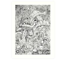 Alice And The Hookah Smoking Catterpillar Art Print