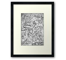 Alice And The Hookah Smoking Catterpillar Framed Print