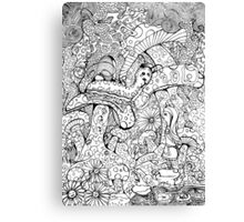 Alice And The Hookah Smoking Catterpillar Canvas Print