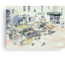 At the Saturday Market, Montbron, France Canvas Print