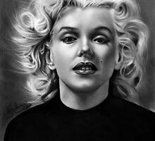 Norma Jean drawing by John Harding