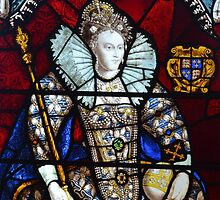 Queen Elizabeth I Stained Glass  by Austin Young