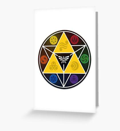 Legend Of Zelda Sacred Symbols Greeting Card