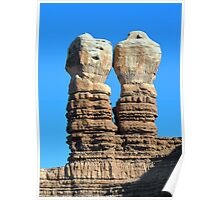 Twin Rocks in Utah Poster