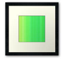 Green Summer Stripes Framed Print