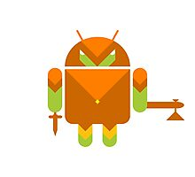 Android Warrior ! Photographic Print