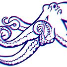 Stereoscopic Octopus by alfablot