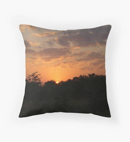 South Africa Sunset - Wild Afrika Throw Pillow