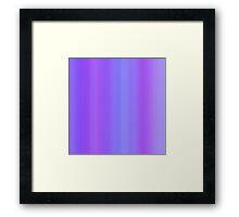 Blue-Violet Stripes Framed Print