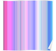 Pink-Blue Stripes Poster