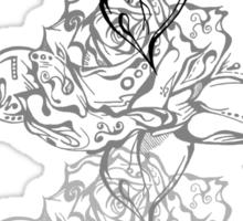 Triple Doodle Rose Sticker