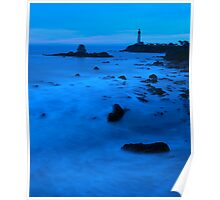 Blue Pigeon Point Poster