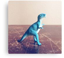 Blue Dinosaur  Canvas Print