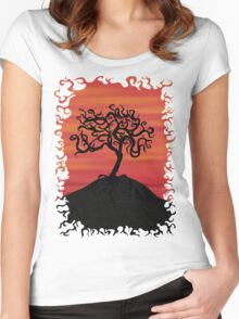 Tree at Sunset Women's Fitted Scoop T-Shirt
