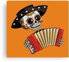 Mexican Skeleton Musician Canvas Print