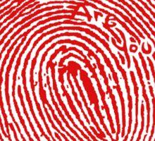 Fingerprint red Sticker