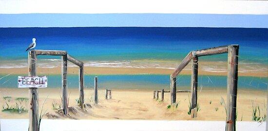 """""""Beach"""" by Tania Kay by Taniakay"""