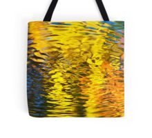Gold Waves Abstract Tote Bag
