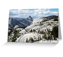 Half Dome in Yosemite National Park from Olmsted Point Greeting Card