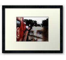 Broken bridges, abstract art Framed Print