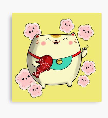 Cute Kawaii Maneki Neko Canvas Print