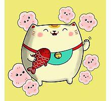 Cute Kawaii Maneki Neko Photographic Print