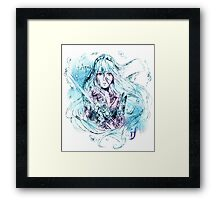 Songstress Aqua Framed Print