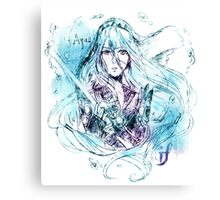 Songstress Aqua Canvas Print
