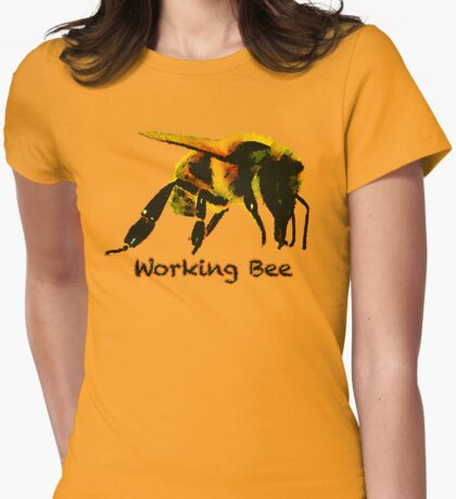 Working Bee Womens Fitted T-Shirt