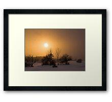 Snow Squaw Sunset Framed Print