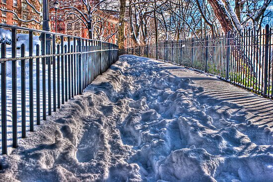 Up hill, both ways, in the snow...(HDR) by Dave Bledsoe