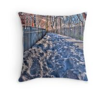 Up hill, both ways, in the snow...(HDR) Throw Pillow