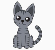 Gray Stripey Cat T-Shirt