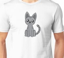 Gray Stripey Cat Unisex T-Shirt