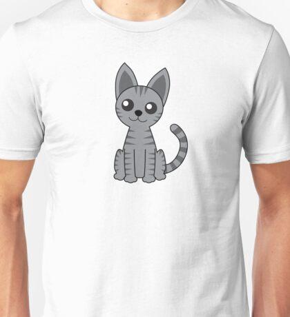 Gray Stripey Cat Unisex T-Shirt