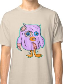 Purple Zombie Penguin Cartoon Classic T-Shirt